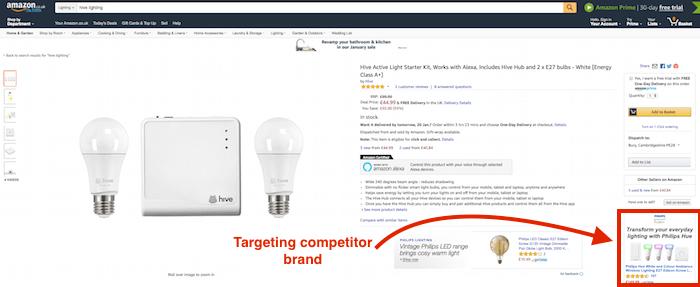 philips hue hive product display ads