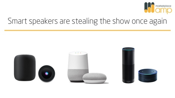 voice search smart speaker header