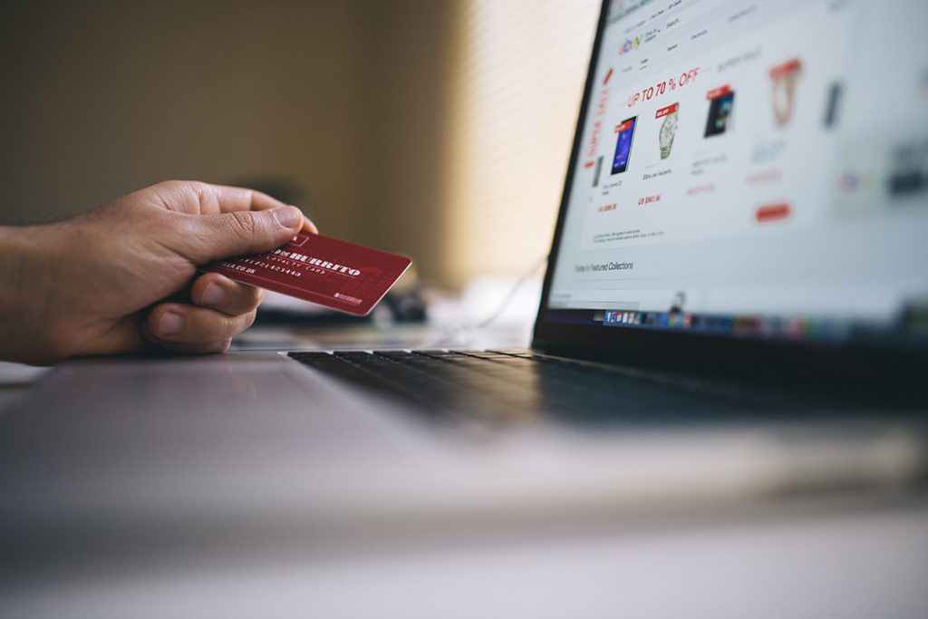 man online shopping on black friday and cyber monday