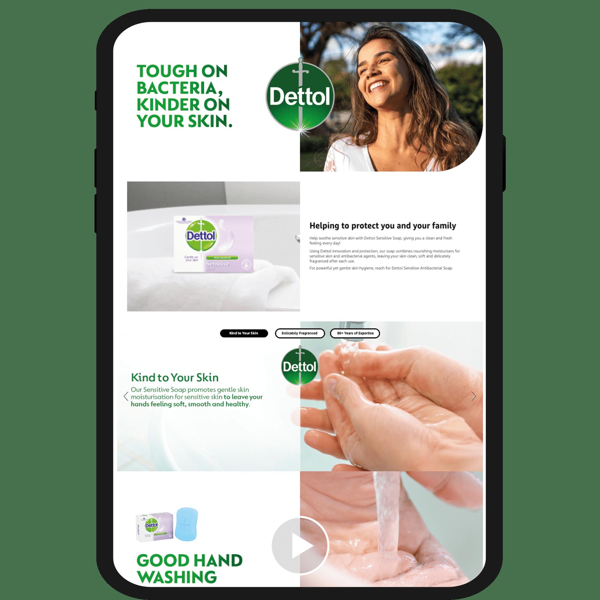 amazon design services - amazon premium A+ content - dettol