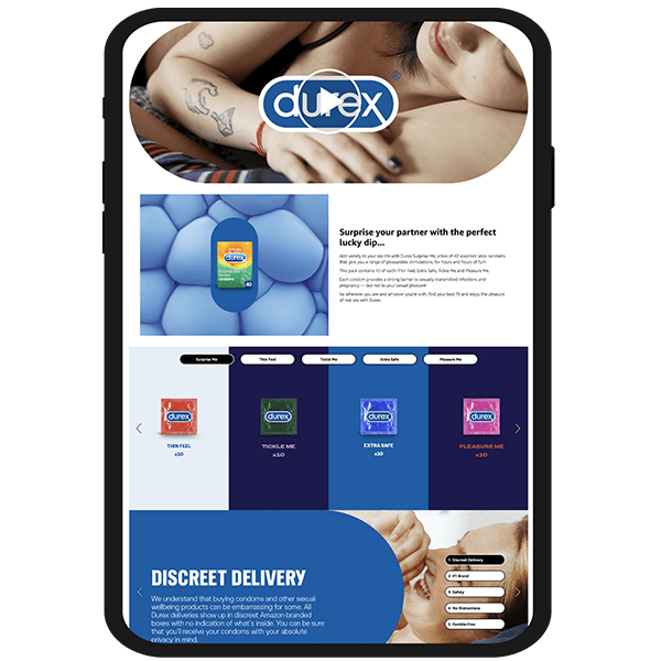 Durex Premium A+ Example - Amazon Strategy Service by marketplace amp