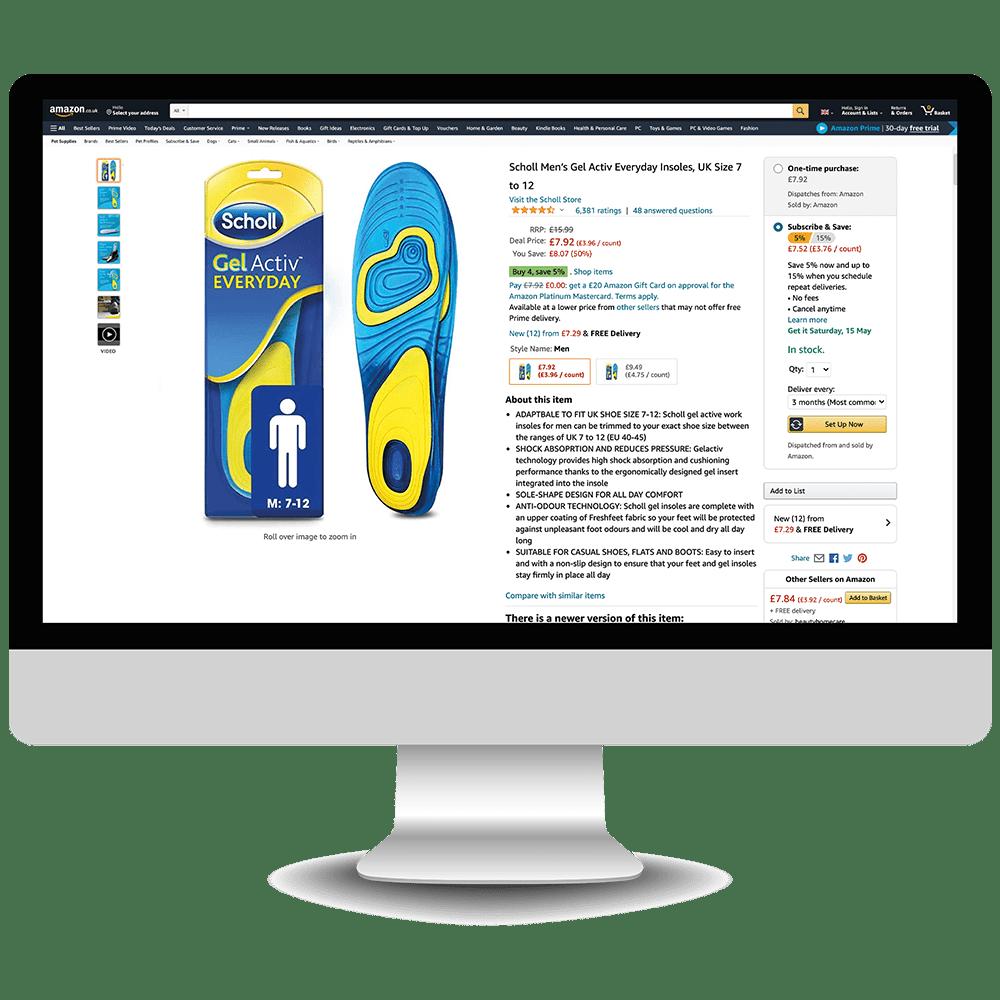 amazon listing optimisation service - scholl - marketplace amp